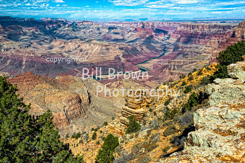 Grand Canyon View with the Colorado River