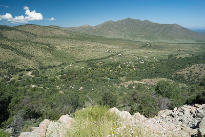 View from the talus above Cave Creek Ranch