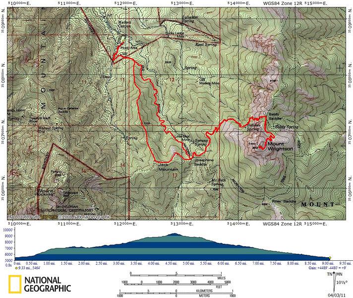 Mount Wrightson Map