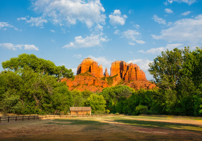 Cathedral Rock is thought to be the site of a Sedona vortex. Sedona has long been considered a special and sacred place. It is believed to possess several unusual energy fields collectively known as Sedona vortex sites .Cathedral Rock.  Arizona, USA.