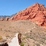 Pathway leading to Red Rock Canyon mountain trail.