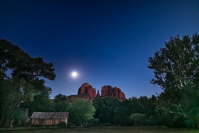 Cathedral Rock Full Moon Water Wheel