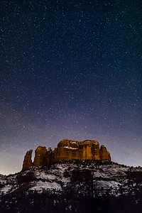 Cathedral Rock Snow & Stars #1