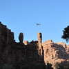 A helicopter also makes numerous trips each day into the village of Supai.