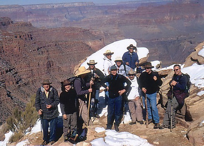 Dee and I hiking the Grand Canyon with some friends.