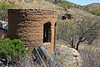 This is one of several adobe structures at this site.