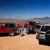 This is approaching the top of Red Mountain near Patagonia, Arizona.  A locked gate at this point bars vehicles from proceding further up the road.  Some of us hoofed it on to the top and were rewarded with a fantastic 360 degree view.  Note Mount Hopkins and Mount Wrightson to the far right in the Santa Rita range.