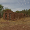 Adobe house in ruins in Harshaw, Arizona.