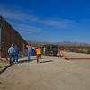 Our group of desert rats visiting the Mexican border east of Nogales where the big fence ends.