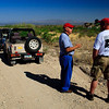 We're on the road to Jeff's ranch.  Fred talks with Jeff.  Carl and Sean palaver.