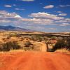 Access and service road for the border fence near Lochiel, Arizona.
