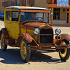 A Model A Ford cruising in Patagonia.