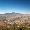 Panorama from Red Mountain looking west over Patagonia to Mount Hopkins and Mount Wrightson.