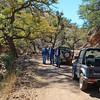 On the road along Harshaw Creek near Patagonia, Arizona.