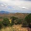 Looking west toward the Santa Rita Mountains with interesting rocks in the foreground.