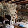 Inside the stone cabin.