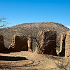 This ruin of a large adobe house is in Alto, Arizona.  It was a Post Office from 1907 to 1933.  Alto was once a gold mining community but is now a ghost town.  This is the only standing structure.
