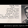 "This is Fred's picture from ""The Old Campus 1953"".  ""The Old Campus 1953"" was published in 1949 and presents the pictures of Yale's entering Freshmen . . . class of 1953.  Fred and I became friends early on.  Fred, Stan Ruland and I roomed together sophomore year......Put......"