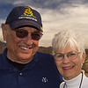 Me wearing my Yale '53 shirt and Carol, Fred's wife.
