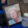 A Picture of Fred with Some of His Ashes.
