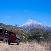 Russ' Rubicon in the Santa Rita Mountains.  Starting into Josephine Canyon with snow capped Mount Wrightson in view.