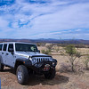 Nogales, Arizona Airport behind Jeep.