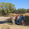 Al, Steve, Jim and Fred by the San Pedro River near Fairbank, Arizona.