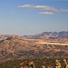 A view from Arizona's Patagonia Mountains, looking beyond Saddle Mountain, across the San Rafael Valley to the Huachuca Mountains.