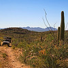 Looking back toward the Baboquivari Valley on our way up to Sapano Vaya in the Tohono O'odham Indian Reservation in southern Arizona.