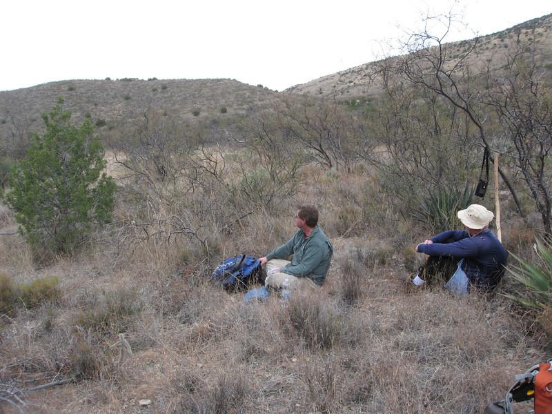 Break time on the lower slopes.