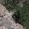 This is where you have to downclimb to get off the lookout summit.