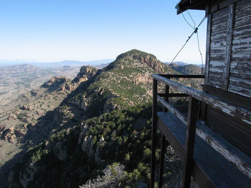 Atascosa Peak looms to the north behind the lookout.