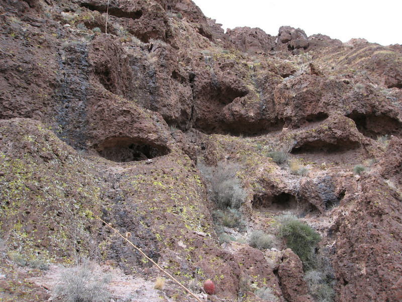 The rock is loaded with alcoves.