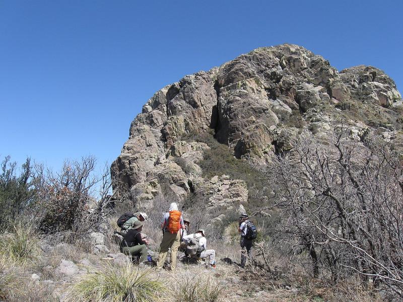 Last break before the real climbing begins. Photo by Molen