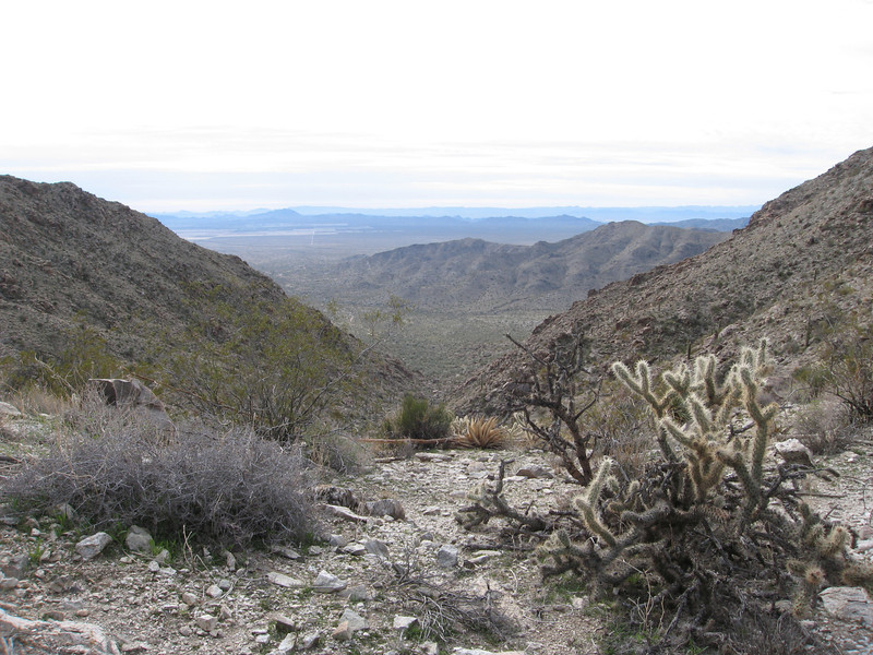 View south from the saddle.