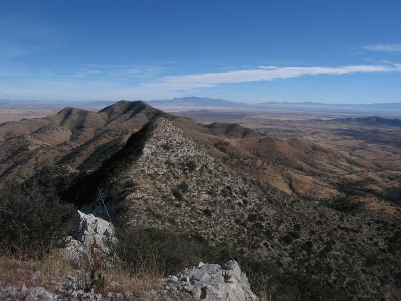 Lime Peak to the northeast with Dos Cabezas in the background.