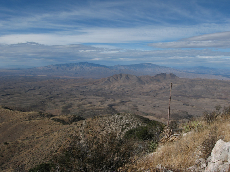 Rincon Peak (l) and Mica Mtn (r) to the west.