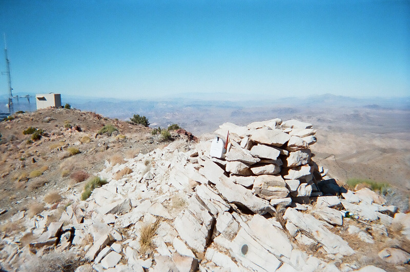 Highpoint cairn on the eastern end of the peak.