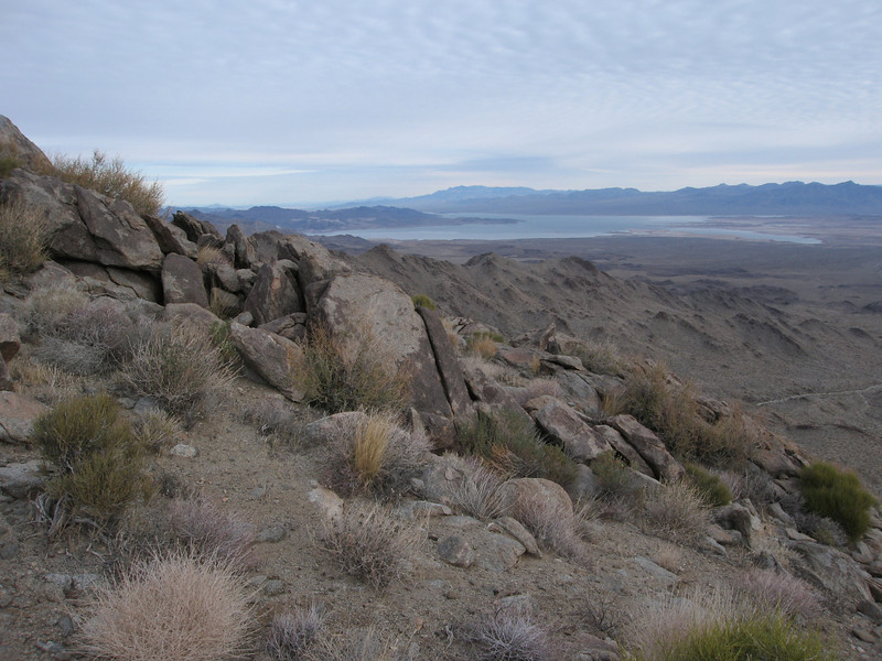 View northeast to Lake Mead.  Virgin Peak, NV is in the far background.