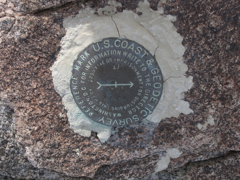 """Reference benchmark """"Mt Wilson 1934"""".  The station mark could not be found."""