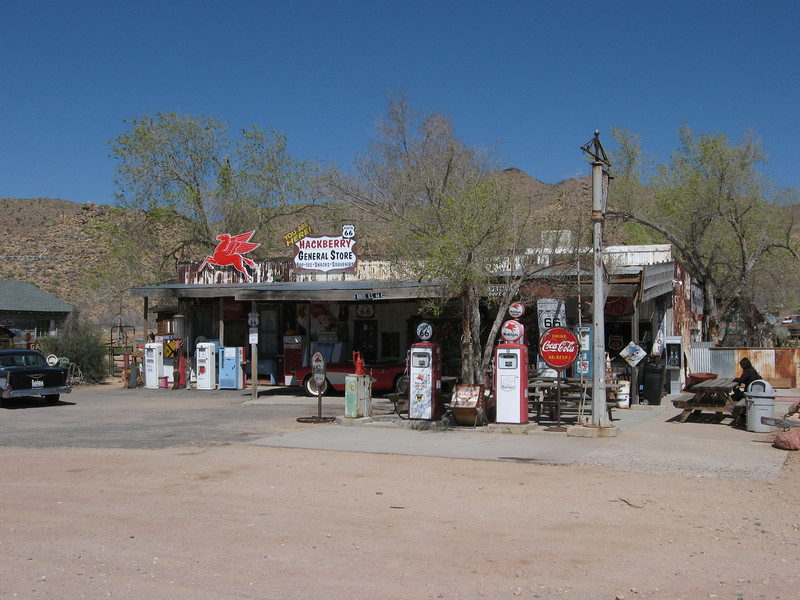 The Hackberry General Store along Route 66.