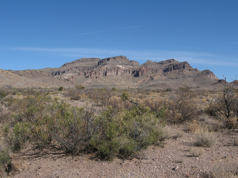 The Peloncillo Mtns from near the AZ-NM border.  Looking north, Arizona is on the left, New Mexico is on the right.