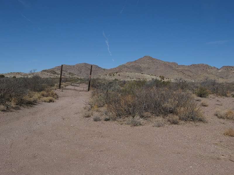 The gate at the ranch entrance along the AZ-NM border.  Beyond the gate is Arizona.