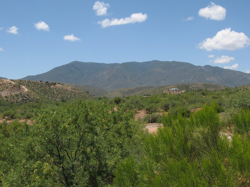 The Pinal Mtns viewed from near the Globe Community Center.