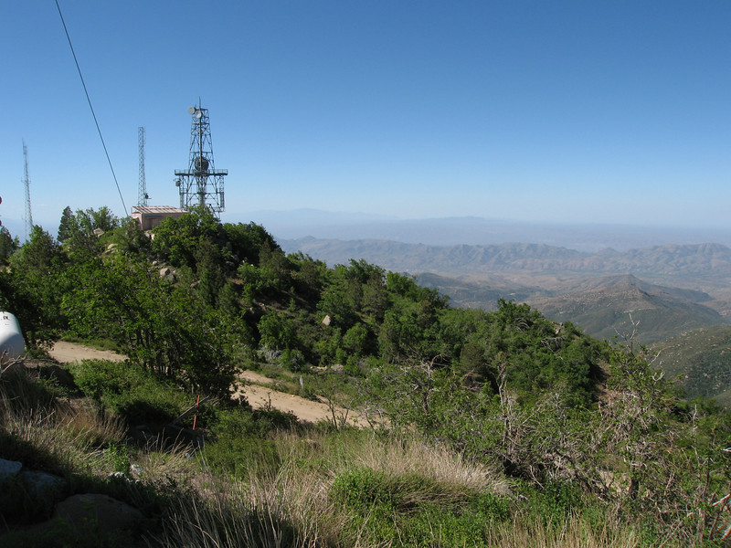 The subpeak from Pinal Peak.