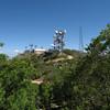 Pinal Peak facilities viewed from the subpeak.