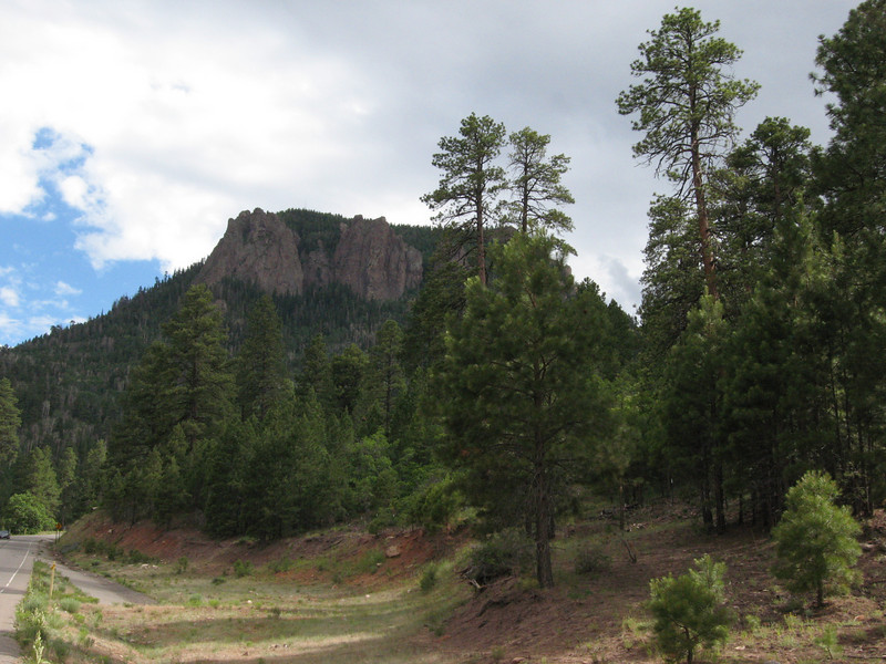 The north face of Roof Butte from along Hwy 13.