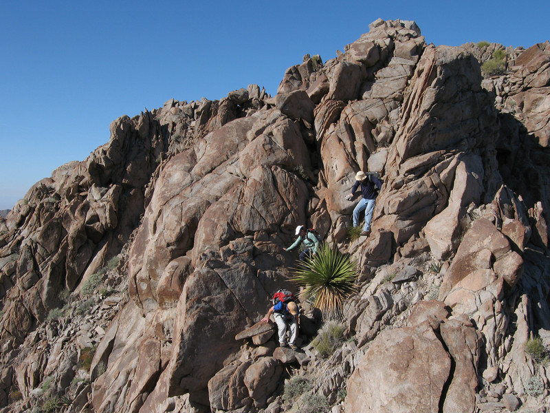 ...have to downclimb the subpeak to continue on the ridge.