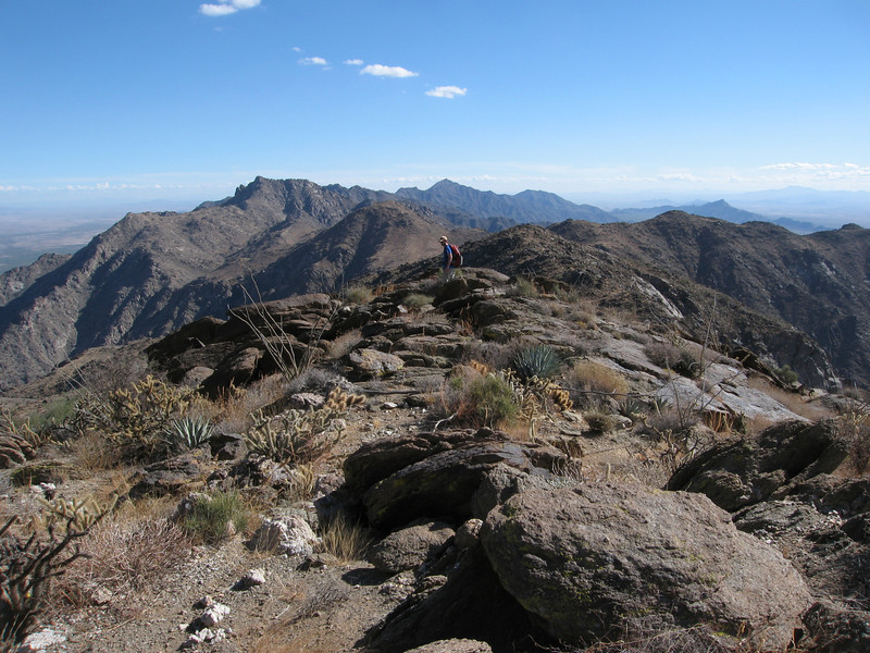 View south along the Sierra Estrella Mtns ridgeline.