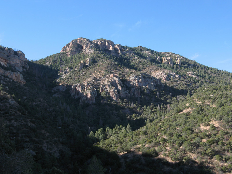 Closer up, the highpoint is the shorter looking forested point just right from center.